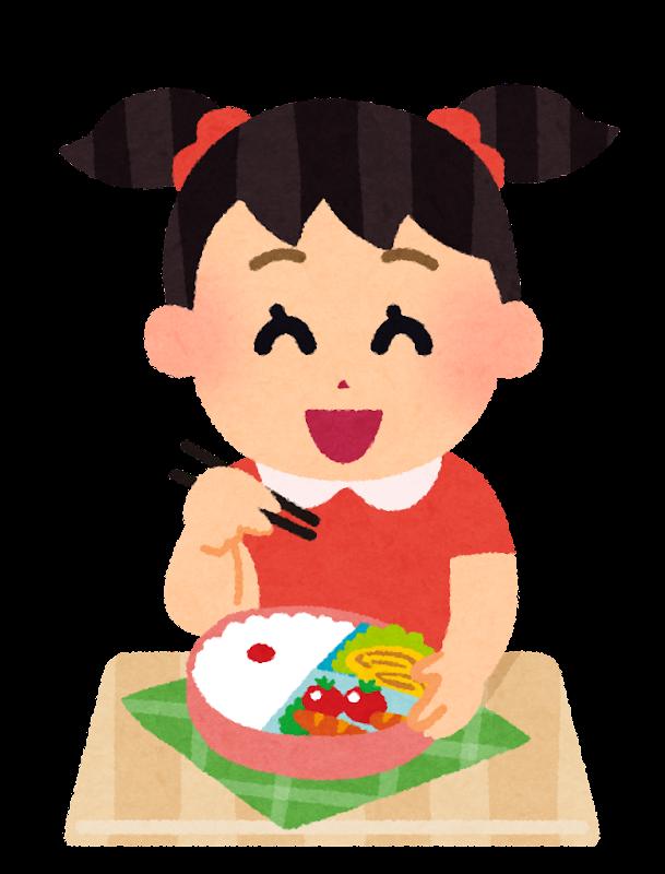 お弁当のイラスト「女の子」