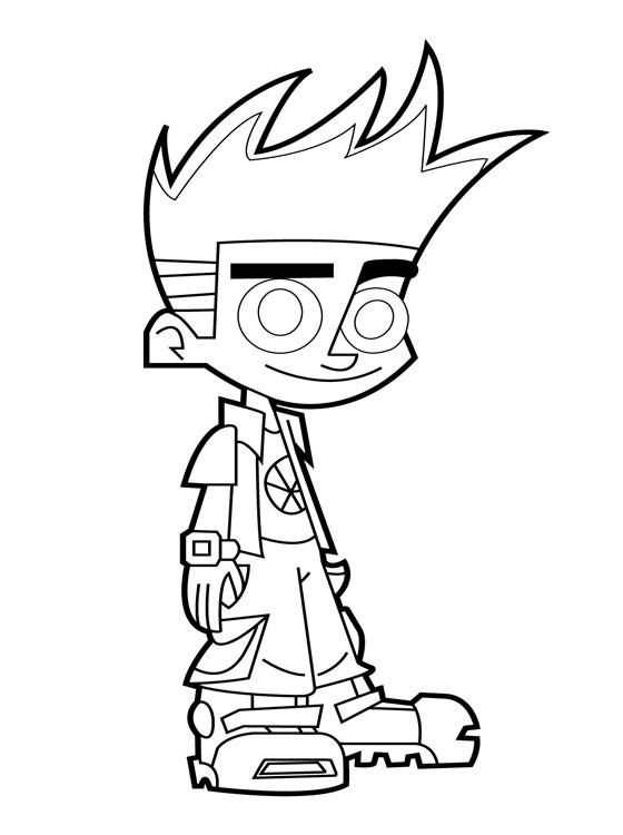 Cartoon network coloring pages for kids ~ Desenhos para Colorir e Imprimir: Desenhos do Johnny Test ...