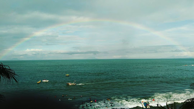 foto pemandangan pantai marbella anyer banten
