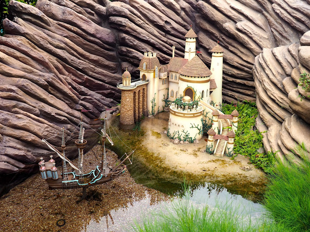 Prince Eric's castle and ship from The Little Mermaid in Fairy Tale Forest, Fantasyland | Disneyland Hong Kong