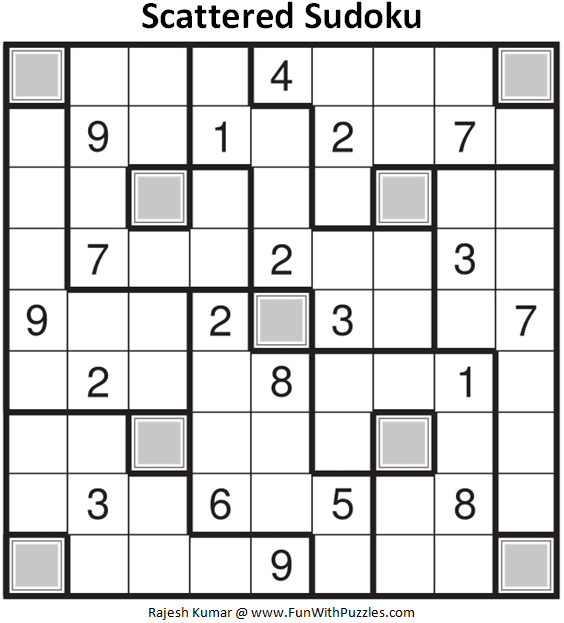 Scattered Sudoku Puzzle (Fun With Sudoku #357)