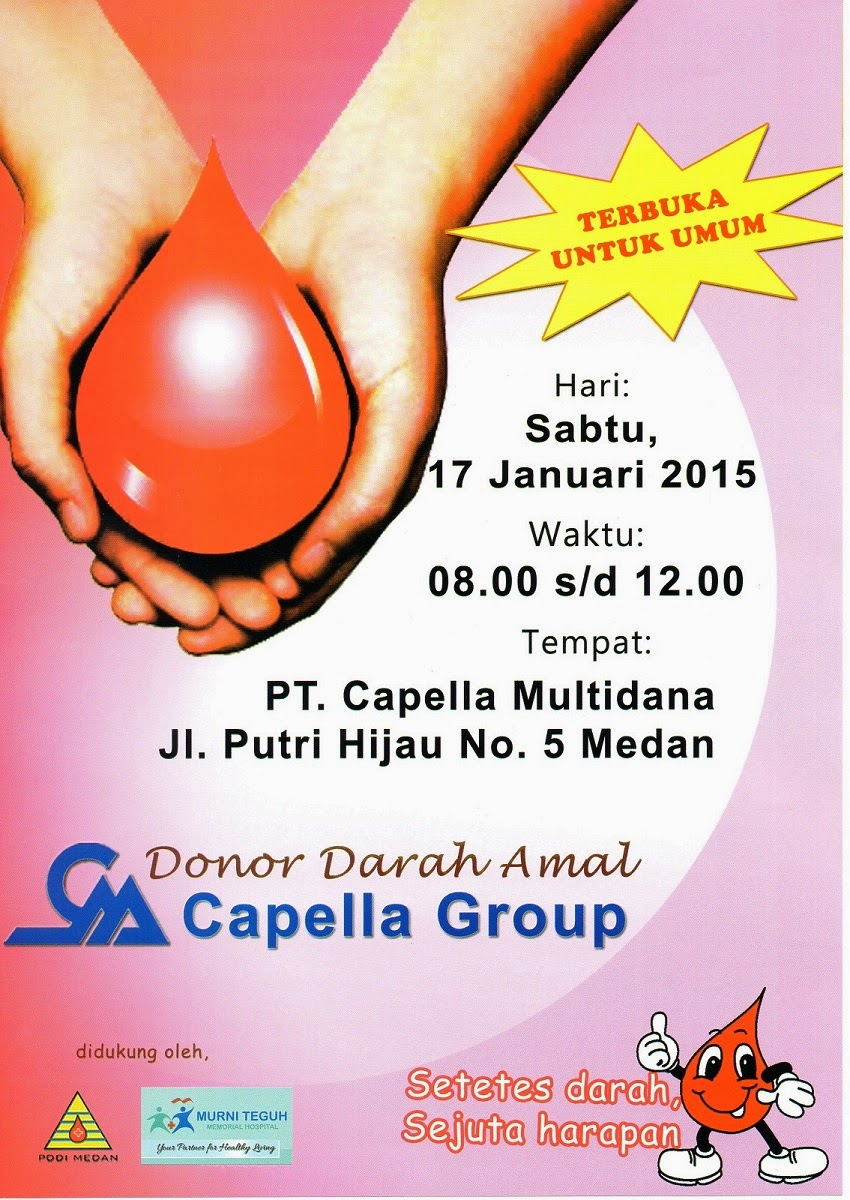 Donor Darah Bersama Capella Group 17 Januari 2015