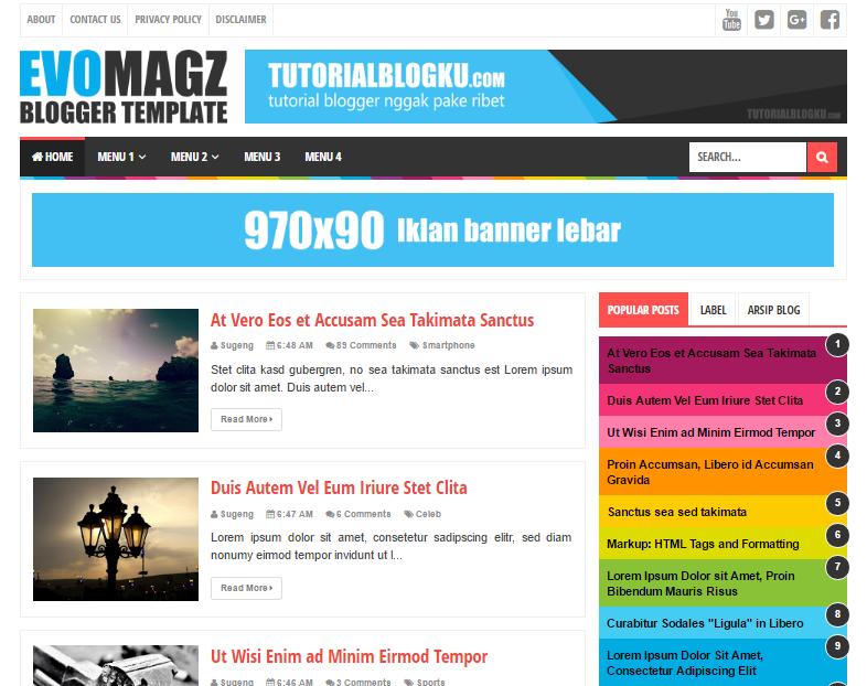 Template Blogger Evo Magz V4.7 SEO Friendly   RIZALTheme   Template ...