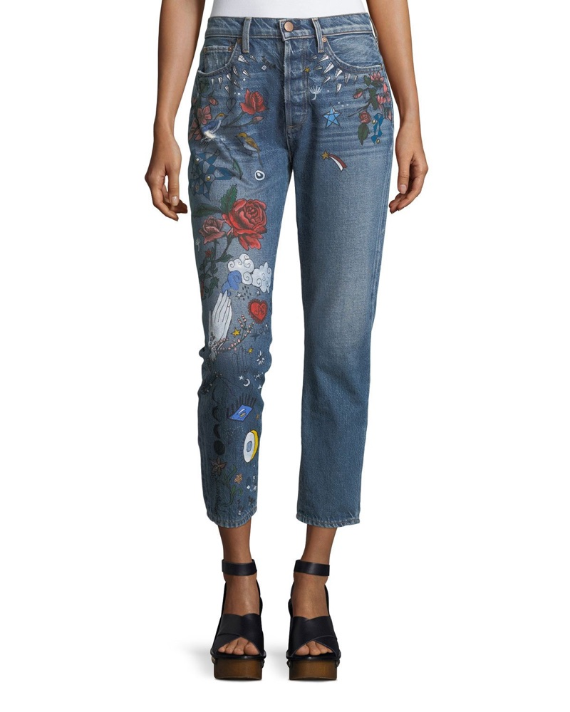 AO.LA 'Amazing' High-Rise Ankle Girlfriend Jeans