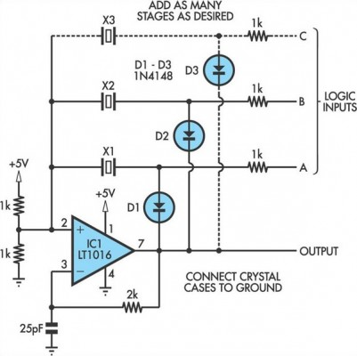 Switchable Output Crystal Oscillator Circuit Diagram The Circuit