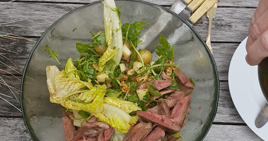 Man Salad (Pigeon, Pear & Walnut Salad)