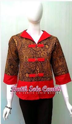 Batik Solo Cantik Diyanti Modis Kancing Shanghai