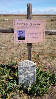 "The headstone for PaNaTa ""Netty"" Alford Gregory buried in the Plain View Cemetery Texas."