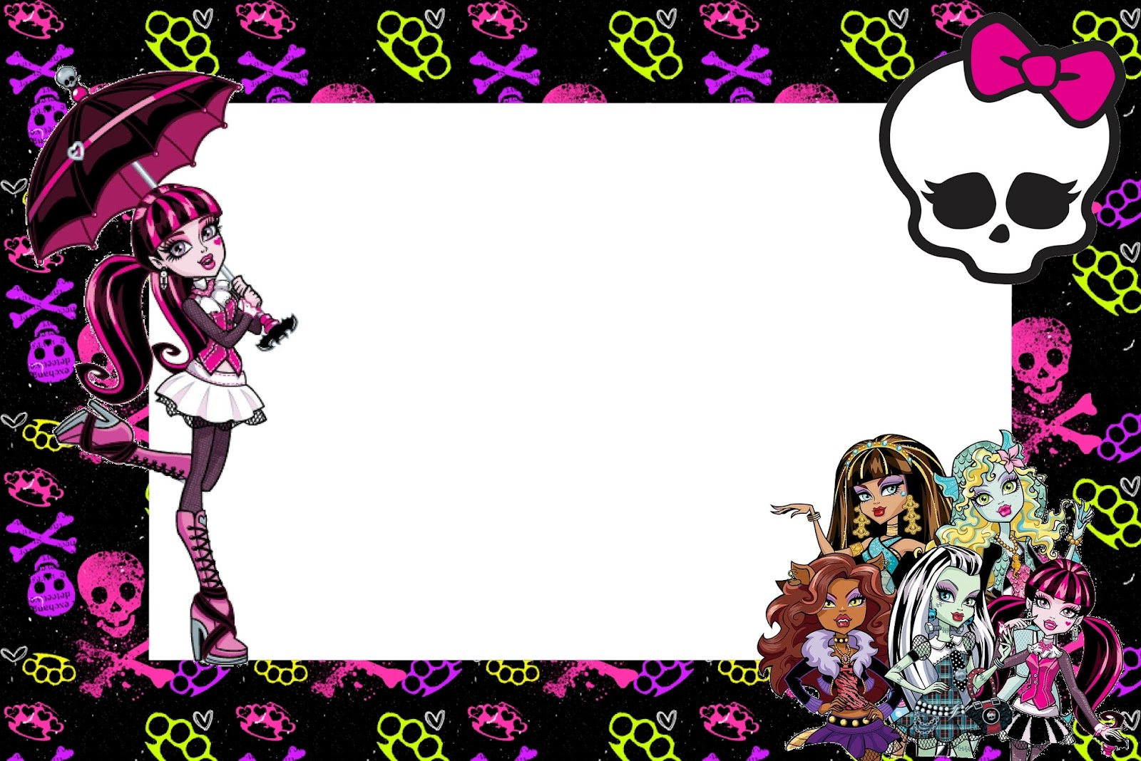 Monster High: Free Printable Party Invitations. | Oh My ...