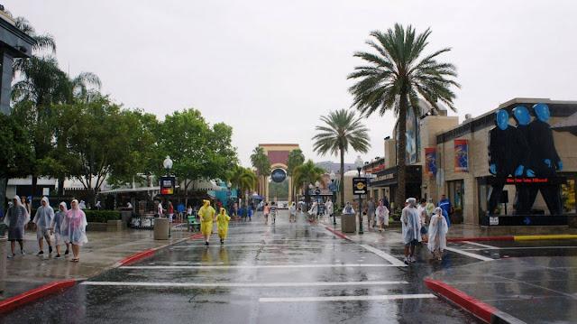 Chuva na Universal Orlando