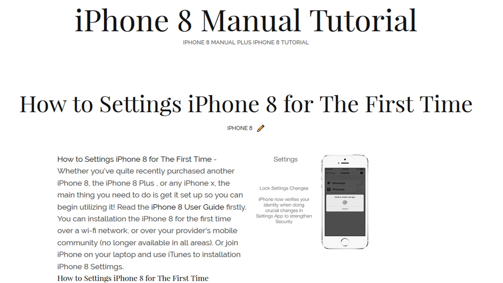 IPhone X User Guide and Manual Instructions PDF For Beginner s
