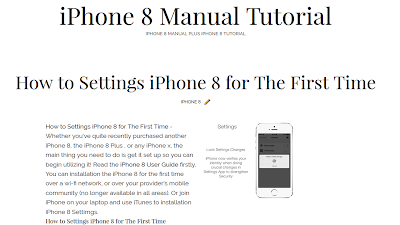 iPhone 8 User Guide Tutorial Tips Tricks