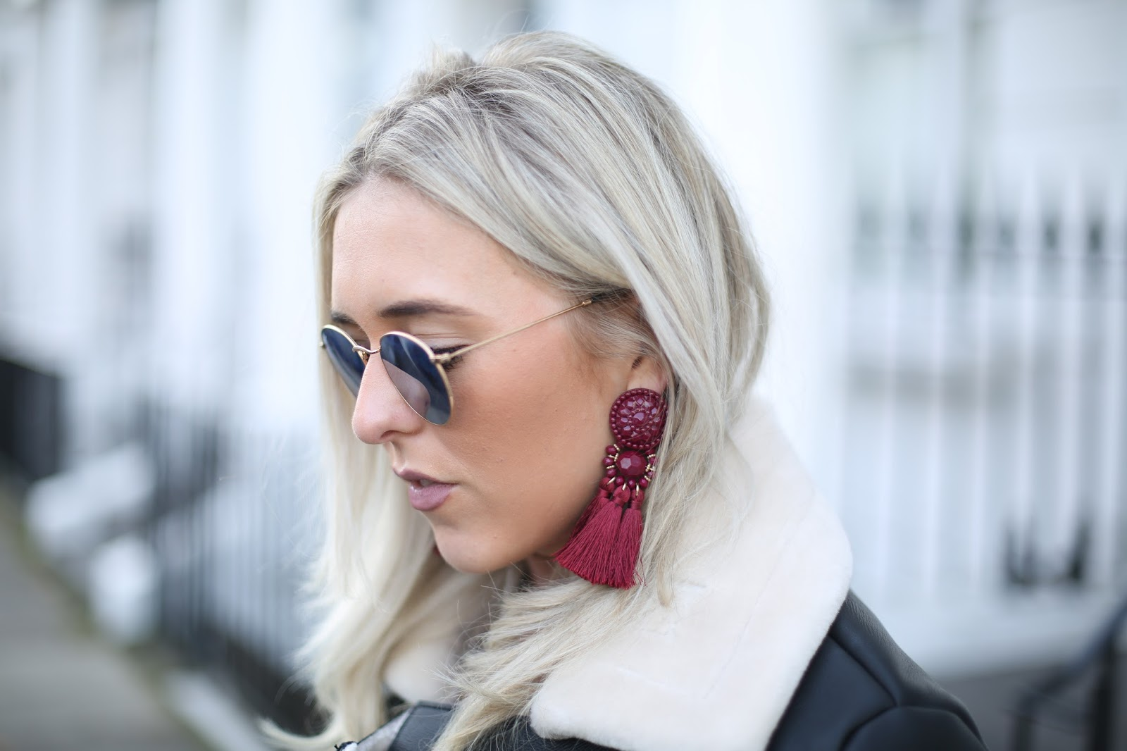 topshop tassel earrings