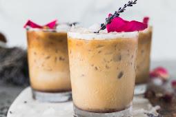 Rose Lavender Honey Iced Lattes