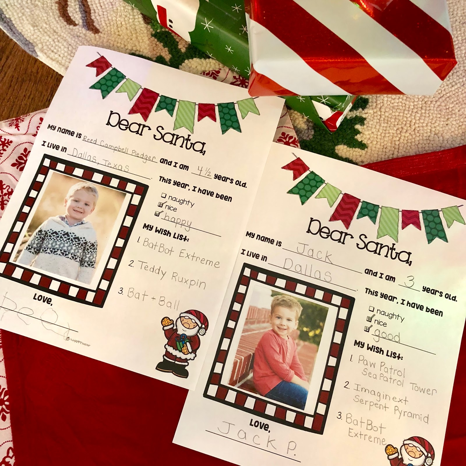 Letter to santa free printable thehappyteacher letters to santa free printable writing template for december spiritdancerdesigns Choice Image