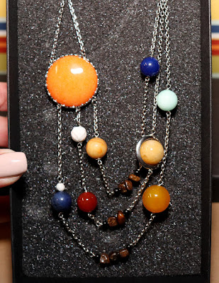 Inner geeky girl - solar system necklace