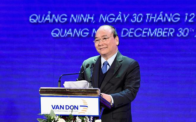 Thủ tướng bấm nút khai chương sân bay Vân Đồn
