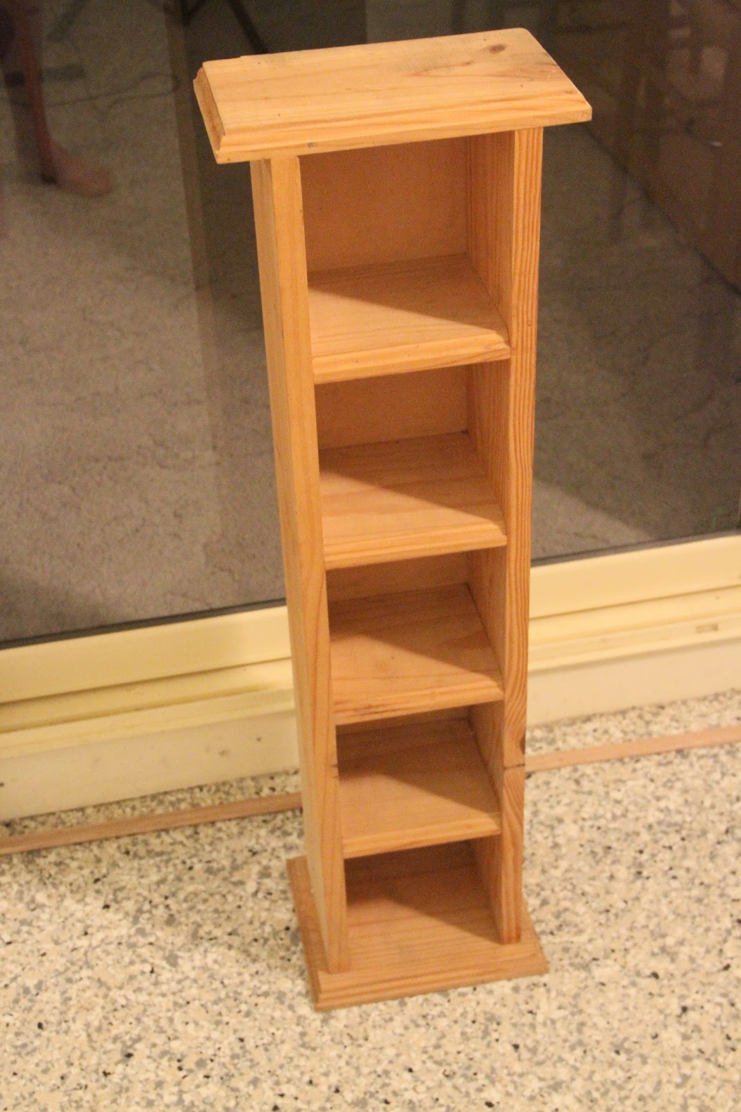 Wooden Cd Rack PDF Woodworking