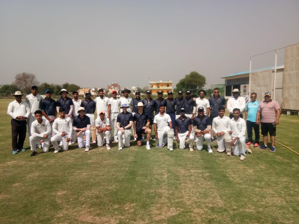 दा क्रिकेट गुरुकुल ने जो रुट क्रिकेट अकादमी ( इंग्लैंड )को 186 रन से हराया