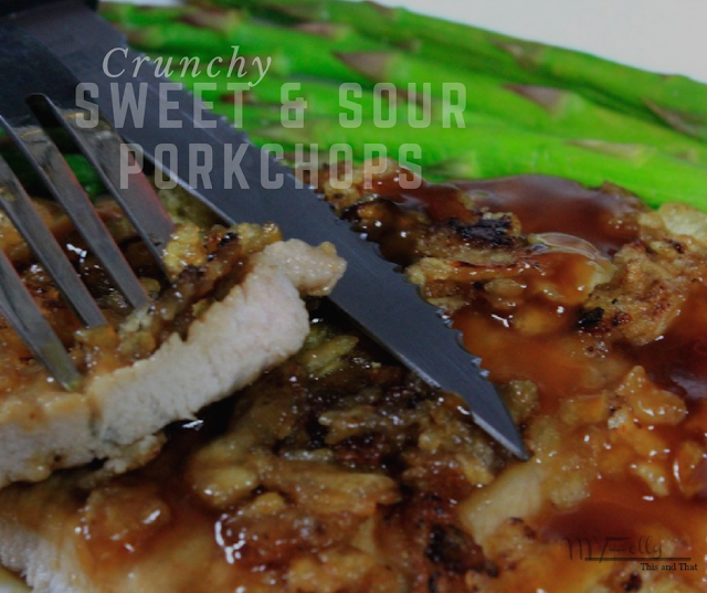 Easy, moist pork chops that are sweet and spicy with a slight crunch.