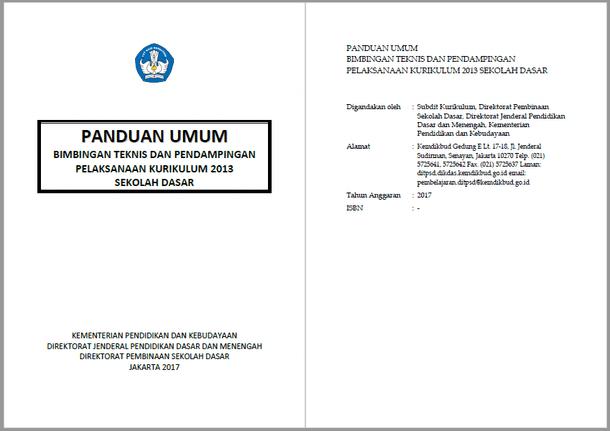 Materi Bimtek Penyegaran Kurikulum 2013 Tingkat SD Revisi 2017 Terbaru