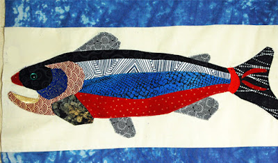 Trout graphic for trout quilt