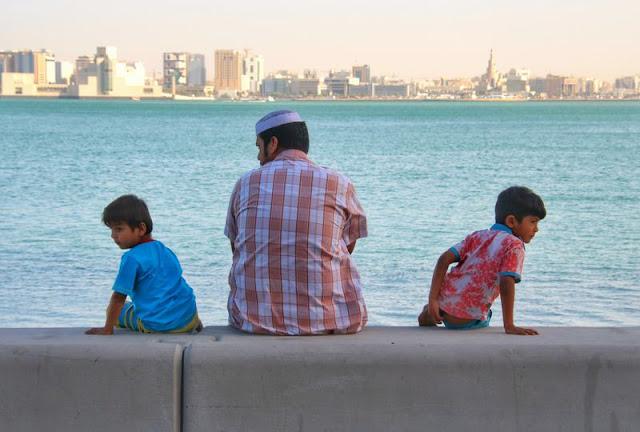 Familia en Al Corniche en Doha
