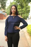 Poojita Super Cute Smile in Blue Top black Trousers at Darsakudu press meet ~ Celebrities Galleries 038.JPG