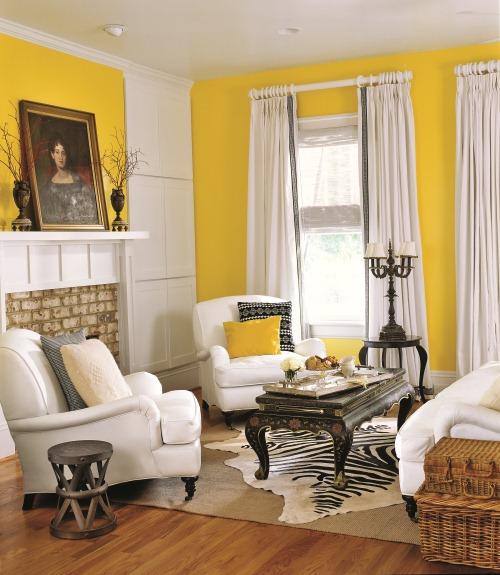 Salas decoradas em amarelo  Decorao e Ideias