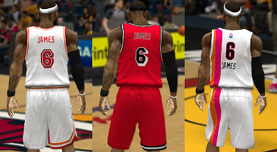 NBA 2K13 Miami Heat Retro Jerseys Update