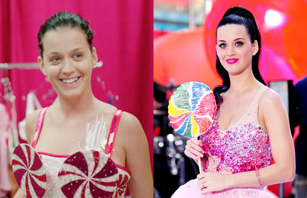 Katy Perry with n without makeup