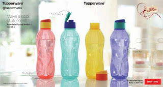 Tupperware fliptop bottle set