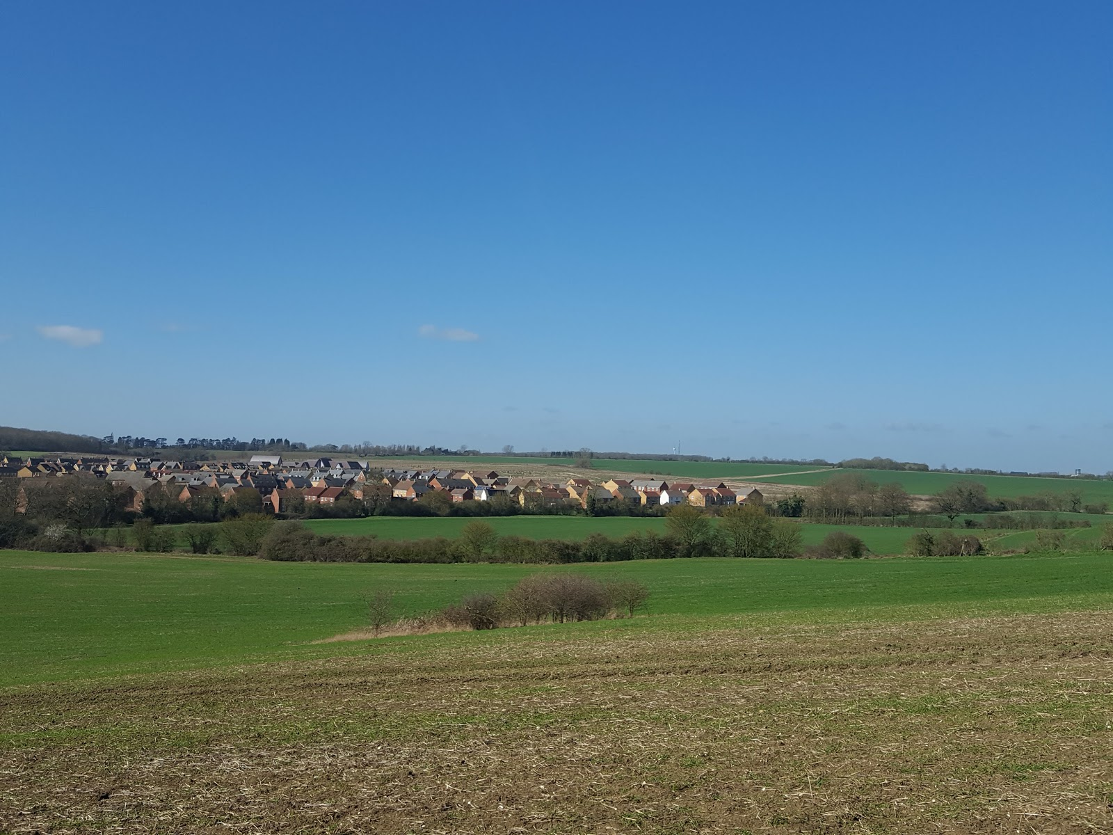 I'm At The Top Of A Field And The Housing Estate In The Distance Is Where My  Daughter Lives Look At The Sky!