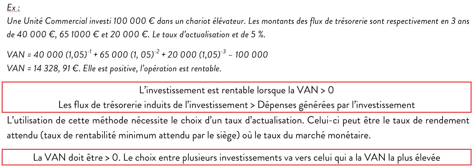 Chapitre 8 Les Investissements Et Leur Rentabilite Bts Muc2