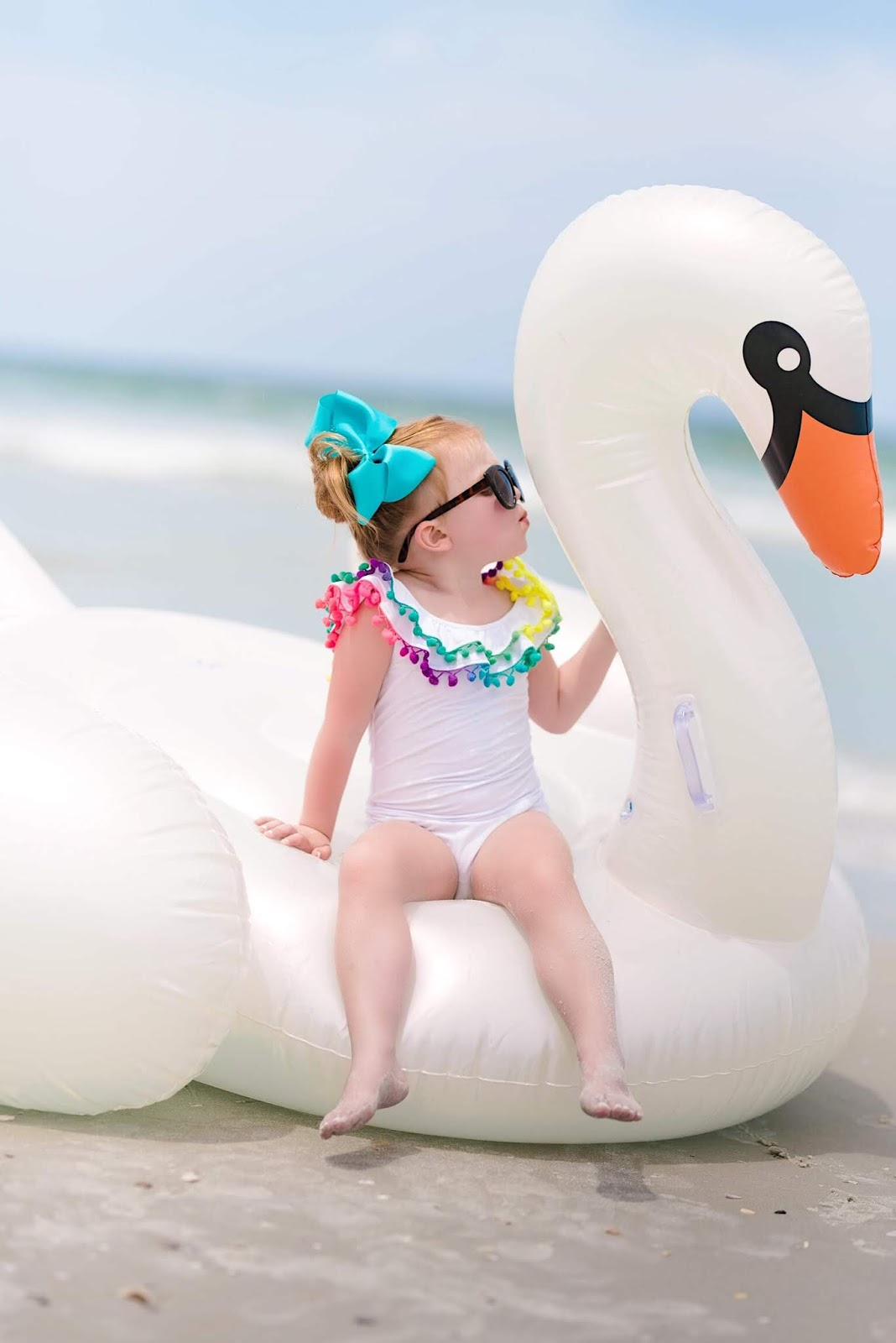 Toddler Girl's Pilyq Pom Pom Swimsuit - Something Delightful Blog
