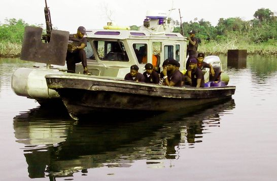 BUSTED   Navy impounds massive vessel with 600,000 litres of diesel in Bayelsa