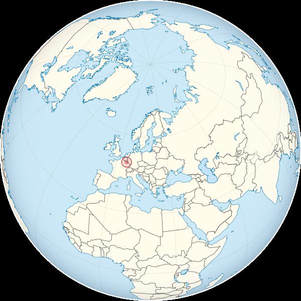 letak negara Luxemburg