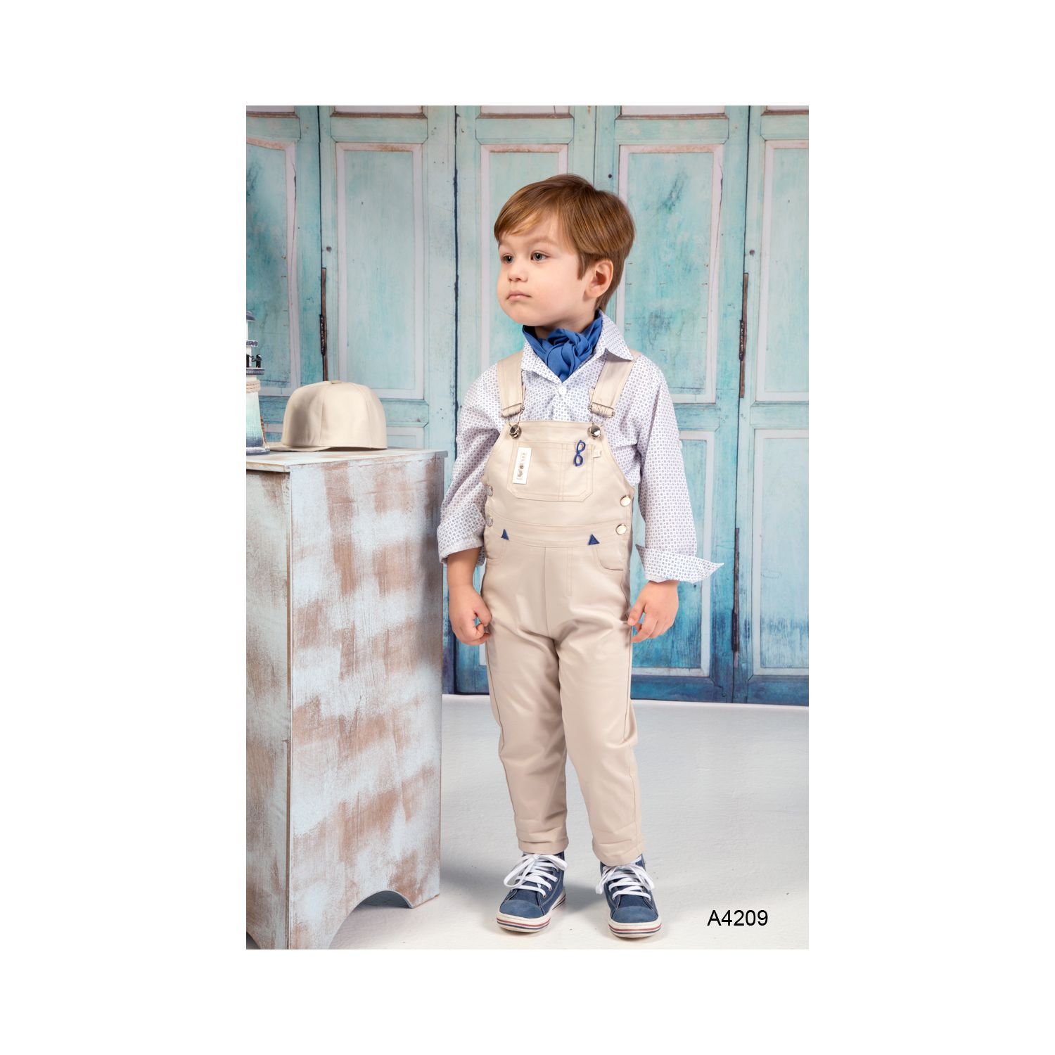 Baptism clothes salopete for boy A4209