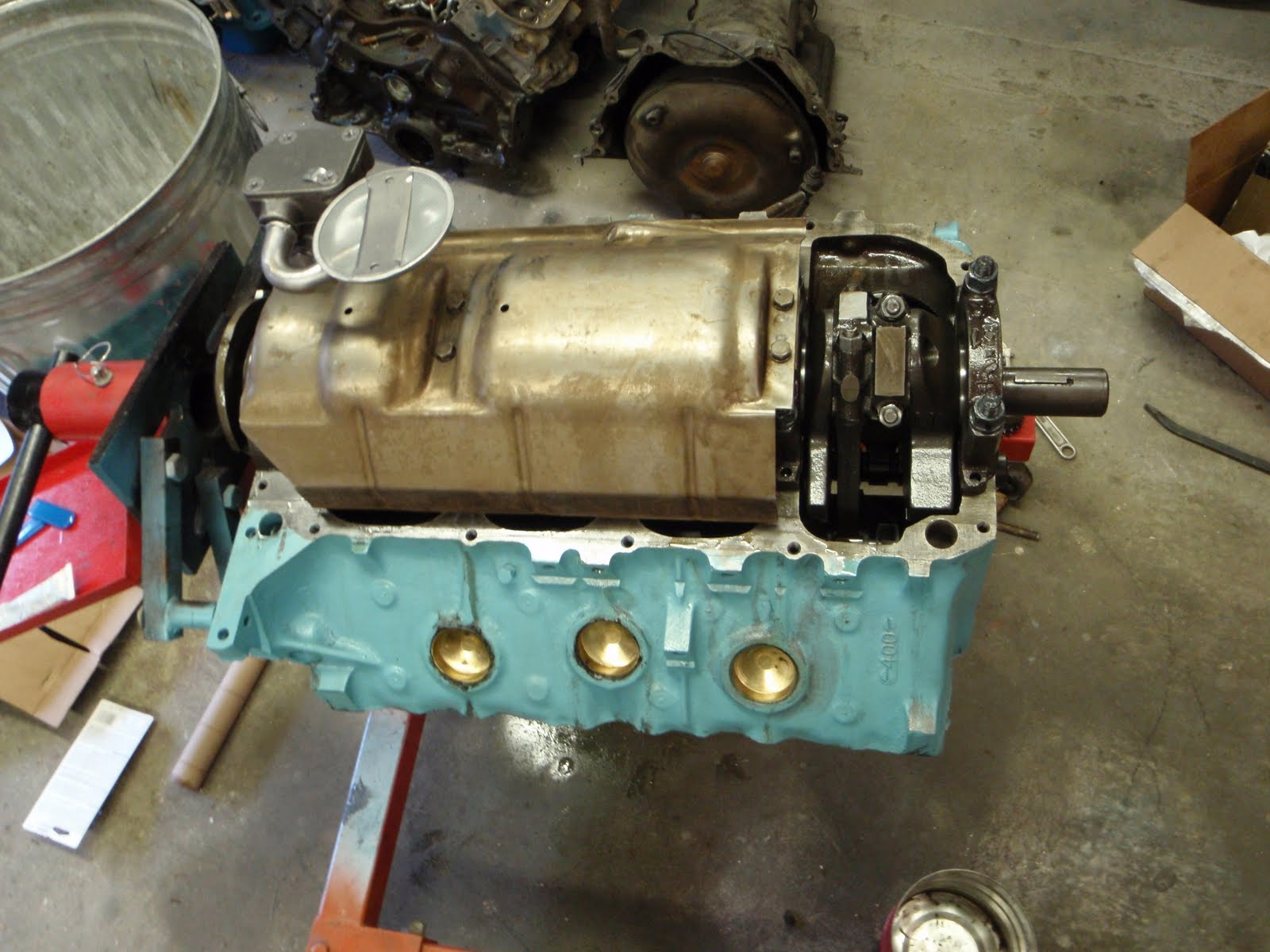The Cynical Gearhead 400 Cubic Inch Pontiac Buildup Part 3 Engine Oil Its A Cleaned Up Stockerthe Pump Was Installed With Proper Gasket And Torqued To 30 Ft Lbs