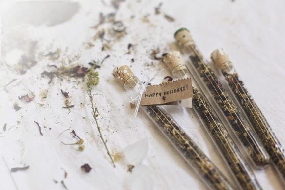 Detalles para bodas: Tes en tubos de ensayo