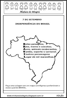Acróstico sobre pátria Brasil