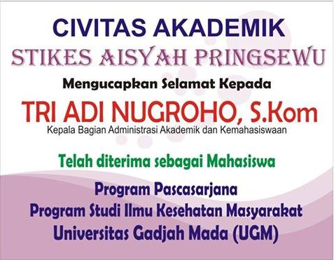 8 Dosen STIKes Aisyah Pringsewu Dikjut di tahun 2016