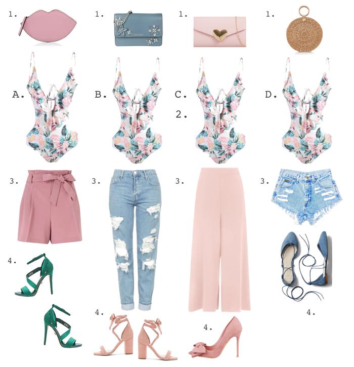 Valentina Vaguada: fashion, bodysuit, tropical, summer, moda, trends, shoes
