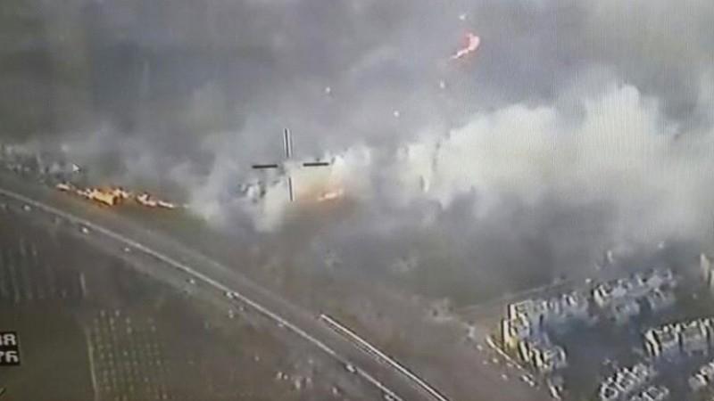Kebakaran hebat di wilayah Modiin, Israel