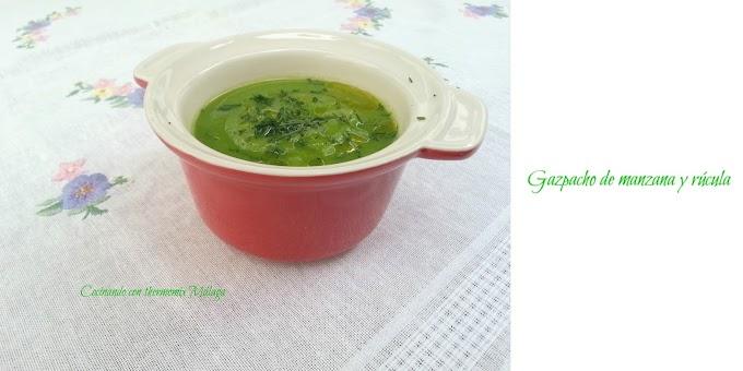 Gazpacho de manzana y rúcula