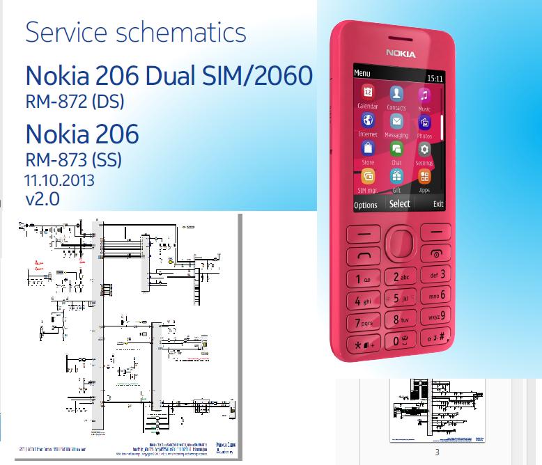 Schematic    diagram    nokia    206     Globaltechno45