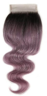 4*4 BODY WAVE CLOSURE 14 INCH TT1B/PURPLE10