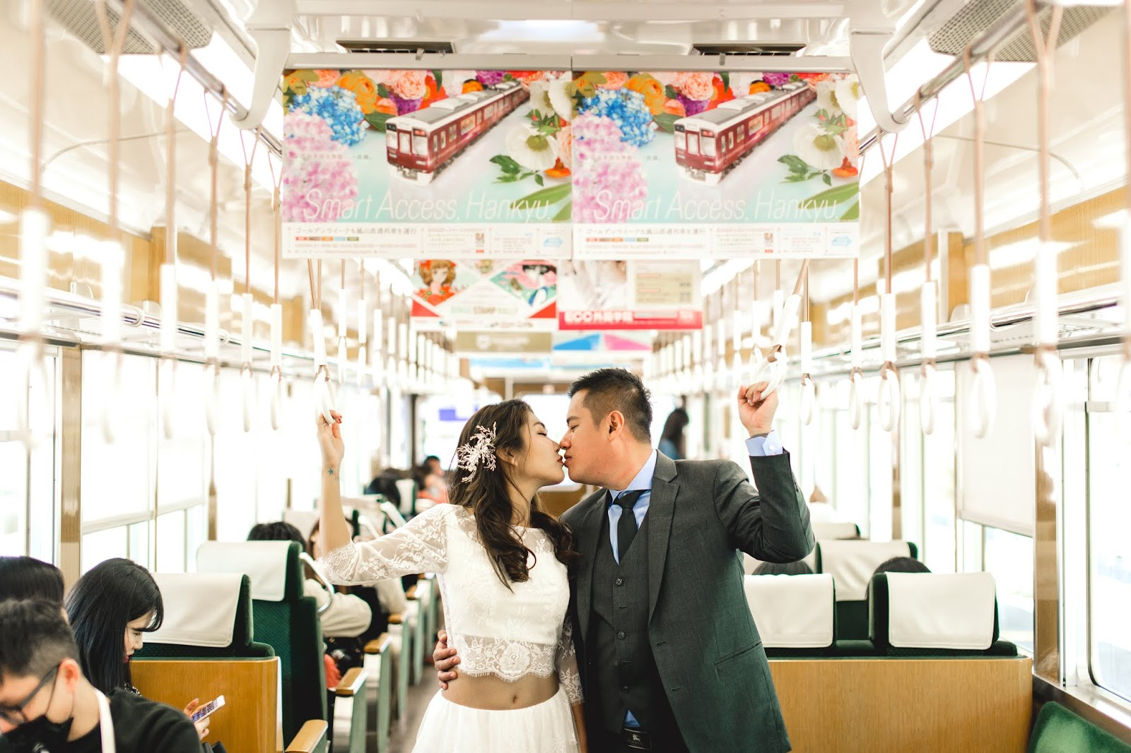 kissing in bus japan