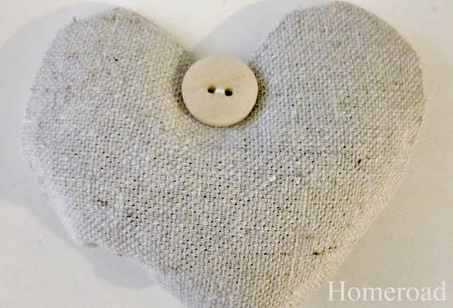 Lavender Heart Sachet with a button