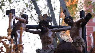 Horarios e Itinerarios del Vía Crucis de las Hermandades de Sevilla presidido por el Cristo de la Conversión del Buen Ladrón